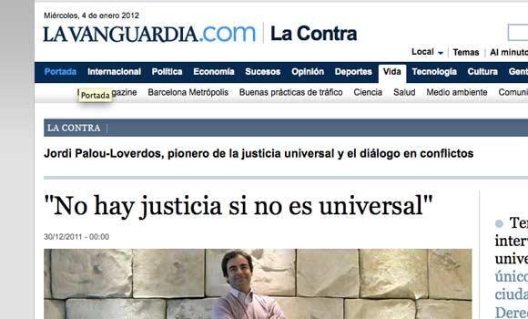 Jordi Palou en La Contra de La Vanguardia
